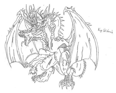 king ghidorah coloring page king ghidorah by 6hellsoldier on deviantart