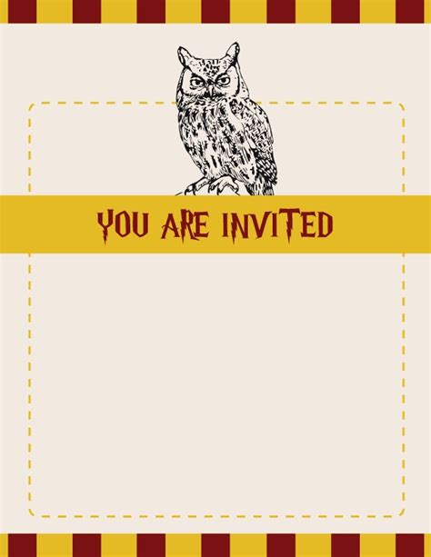 harry potter templates harry potter invitation ideas trusper