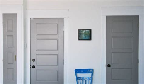 painted interior doors painting gray interior doors how i did it and the amazing