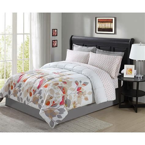 comforters full queen 8 pieces complete bedding set comforter floral flowers
