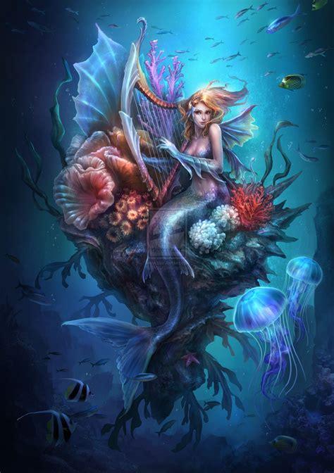mermaid painting mystical on fairies and mermaids
