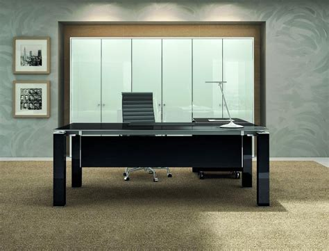 Black Executive Desk For Office Home Design Black Executive Office Desk