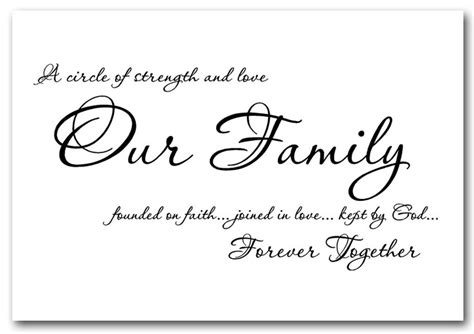 our family together forever text quotes framed giclee