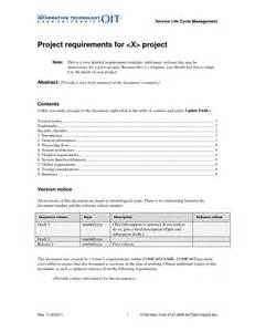 project requirements template best photos of project requirements exles project