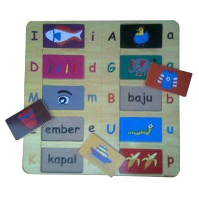 Limited Stock Mainan Edukatif Edukasi Anak Puzzle Stiker Kayu Knop mainan kayu puzzle kata tersembunyi kayu seru