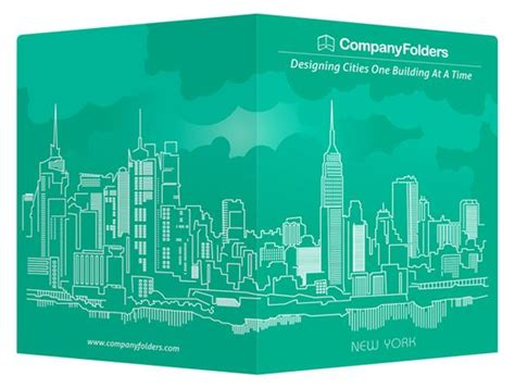 new york city skyline free vector presentation folder