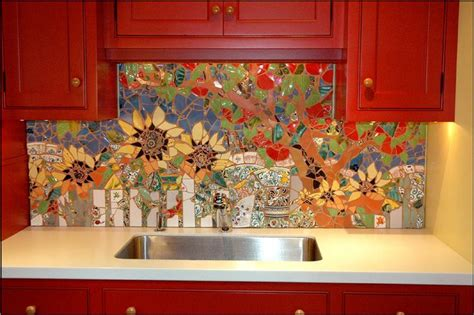 Inexpensive Backsplash For Kitchen 18 Gleaming Mosaic Kitchen Backsplash Designs