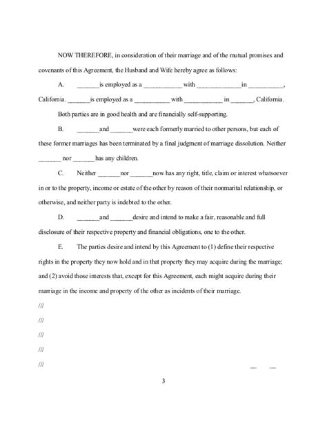 Sle California Postnuptial Agreement Postnuptial Agreement Template