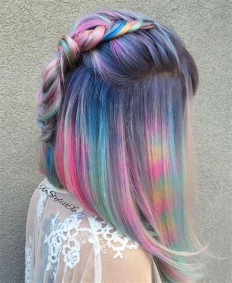 iridescent hair color iridescent hair archives rainbow hair colour