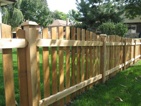 cedar fence sections cut arched spaced picket fence mortise and tenon