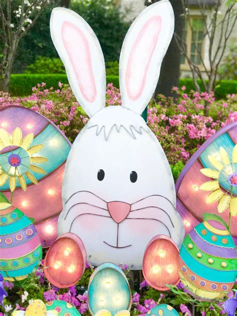 easter decorations for outside outdoor easter decorations turtle creek