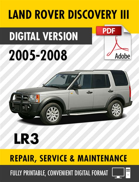manual repair free 2007 land rover discovery security system 2005 2008 land rover discovery iii lr3 factory repair service manual s manuals