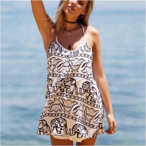 Set Sleeveless Dress Printed Dress dress printed laced floral printed elephants pattern two