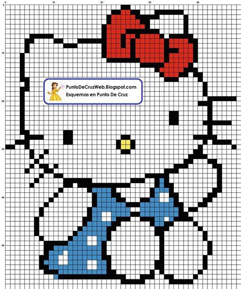 imagenes de kitty en punto de cruz punto de cruz hello kitty vestido de lunares