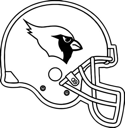 nfl cardinals coloring pages football helmet coloring pages denver broncos football