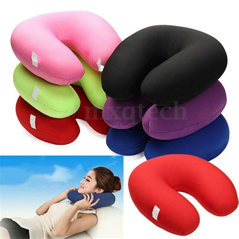 neck pillow u shaped comfort microbead travel neck pillow cushion