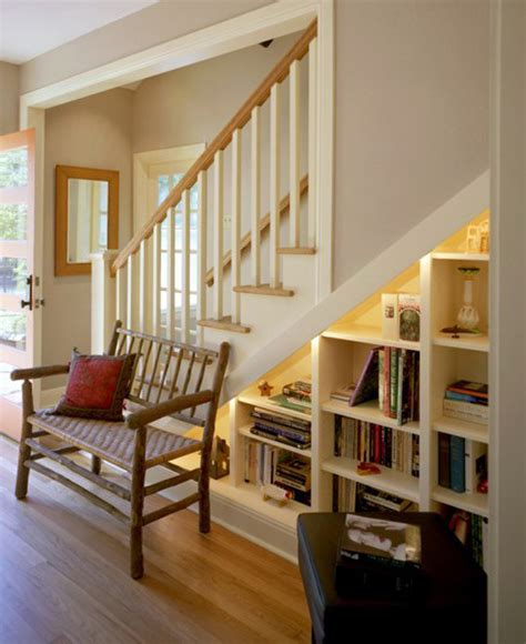 bookcase storage stairs