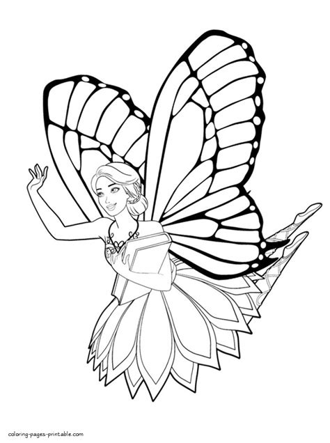 barbie coloring pages mariposa fairy princess 1 gif