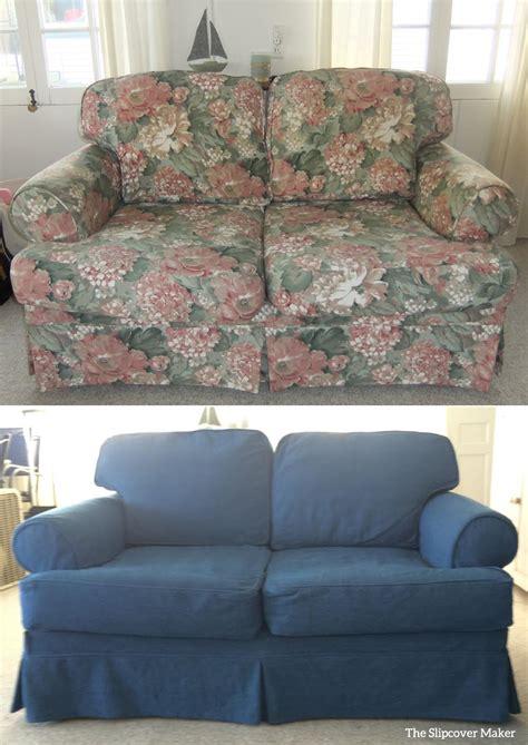 blue slipcover indigo blue denim for cottage slipcovers the slipcover maker