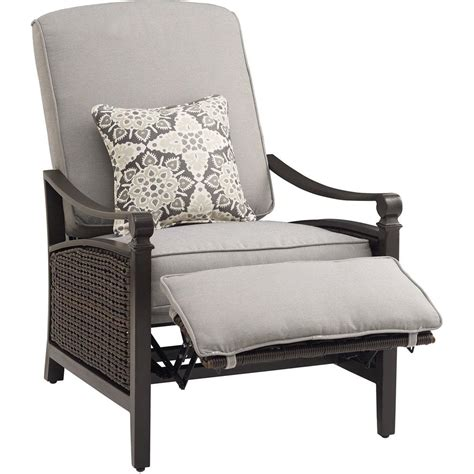 outdoor rocker recliner hanover orleans 4 piece rocking patio chair set with