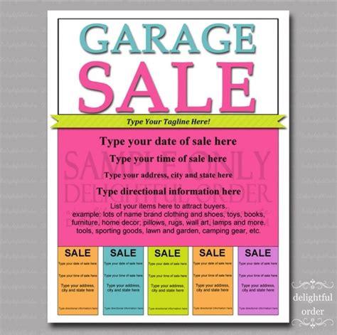 garage sale template free 13 cool garage sale flyers printaholic