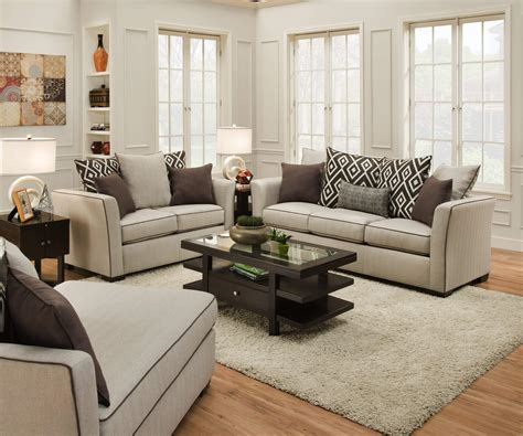 fabric living room furniture stewart linen sofa and loveseat by simmons fabric living
