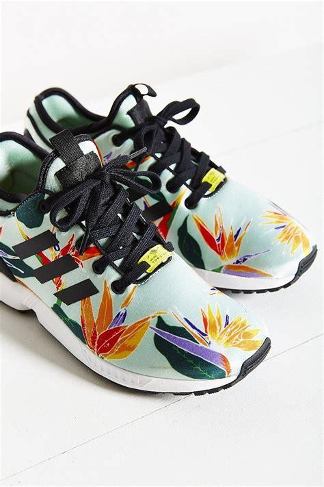 New Sepatu Running Zx Flux Multicolor lyst adidas originals zx flux tropical running sneaker in green