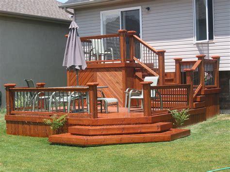 two level backyard 1000 ideas about two level deck on pinterest decks