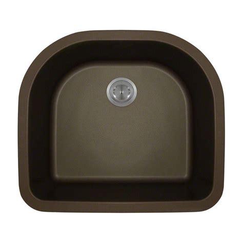 Granite Single Bowl Kitchen Sink Polaris Sinks Undermount Granite 24 3 4 In Single Bowl Kitchen Sink In Mocha P428 Mocha The