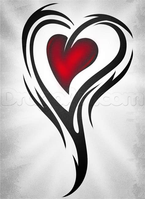 tattoos to draw how to draw a hearts step by step tattoos pop
