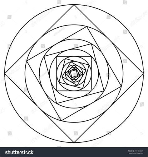 spiral pattern drawing machine geometric rose vector line drawing spiral stock vector