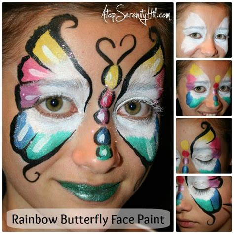 watercolor tutorial face rainbow butterfly face paint tutorial butterfly face