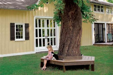 building a bench around a tree 18 diy yard ideas backyard projects you can do this