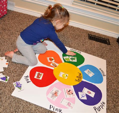 color craft for toddler color matching felt board with picture identification