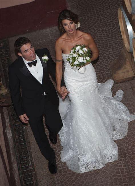 elisabetta canalis wedding dress elisabettacanalisweddingdress alessandroangelozzicouture