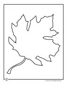 Maple leaf template woo jr kids activities