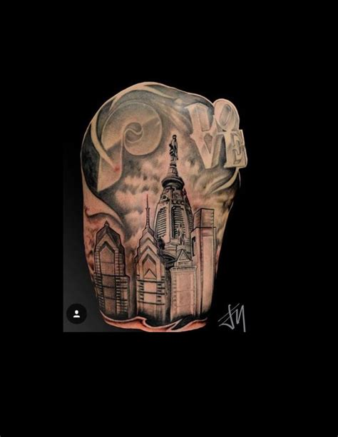 philly skyline tattoo philadelphia skyline by jason m tattoonow