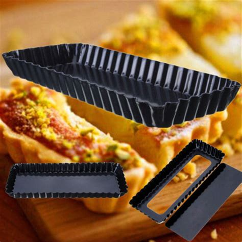 Pie Tart 18cm buy rectangle fluted pie tart pan mold baking removable bottom nonstick at best price in pakistan