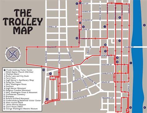 tour map tour map trolley tours of fredericksburgtrolley tours of