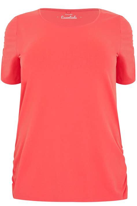 T Shirt S A S Buy Nggifa Name t shirt coral avec manches courtes ruch 233 es