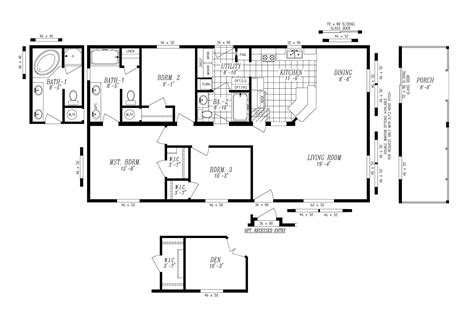 manufactured home floor plan manufactured home floor plan 2008 marlette simplicity 55sim28483ah08