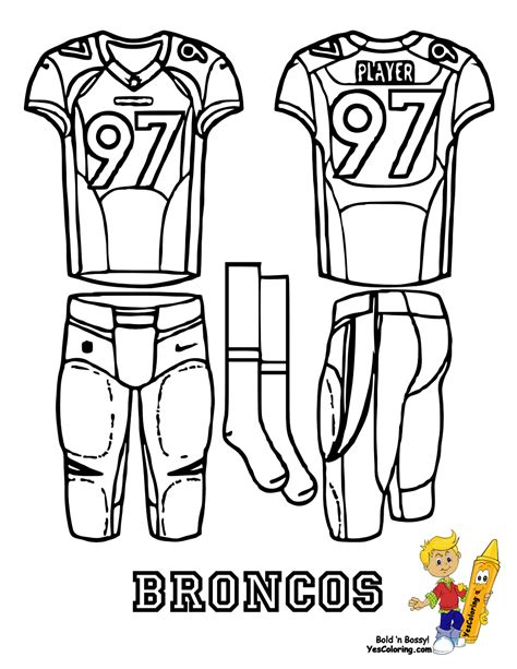 nfl coloring pages broncos attack afc football uniform printables bills chargers
