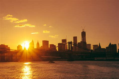 sunset new york city photograph by vivienne gucwa