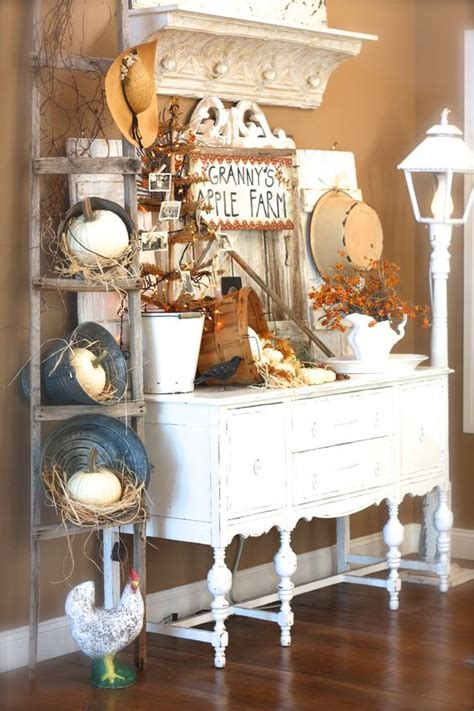pumpkins shabby chic decorating and buckets on pinterest