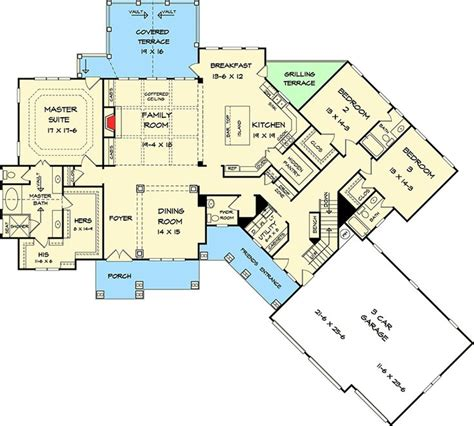 17 Best Images About Floor Plans On Pinterest Craftsman Angled House Plans With Open Concept