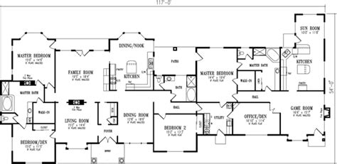5 bedroom 5 bathroom house plans luxury style house plans 4180 square foot home 1 story