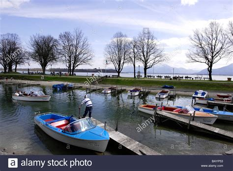 electric boat stock electric boats prien stock chiemsee chiemgau bavaria