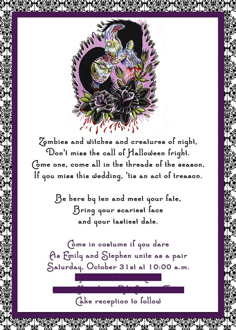 printable halloween wedding invitations tips for choosing halloween wedding invitations
