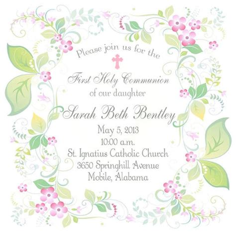 Communion Invitations by Holy Communion Invitations Tableware Apparel Gifts