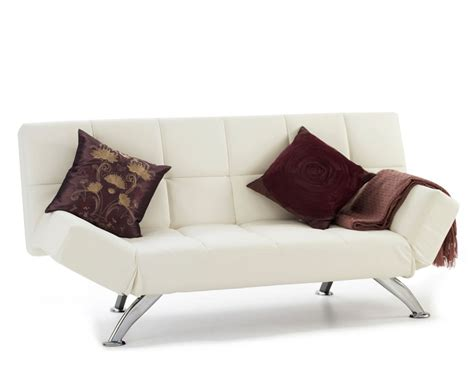 4ft sofa bed venice 4ft orchid white faux leather sofa bed just 4ft beds